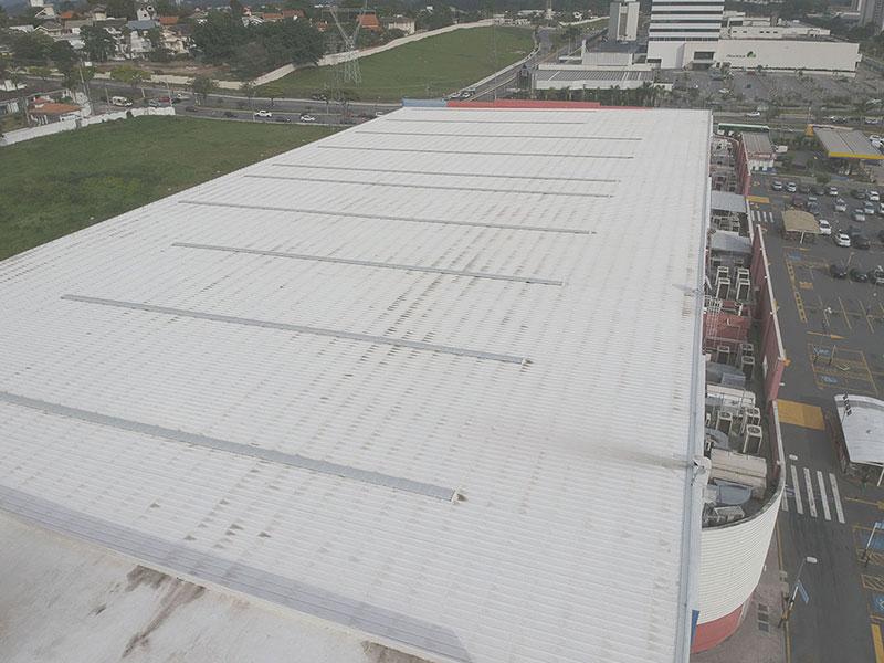 Tinta refratária para telhado